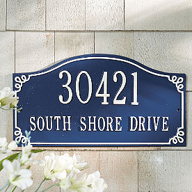 Pemberley Arch Address Plaque