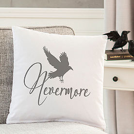Nevermore Raven Pillow