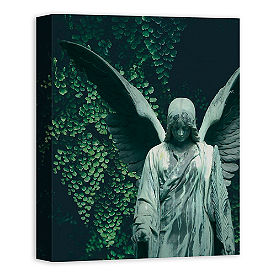 Winged Sculpture Canvas Wall Art