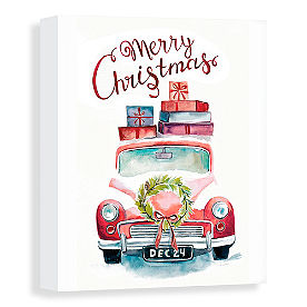 Merry Christmas Car Canvas
