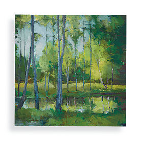 Green Forest Wall Art
