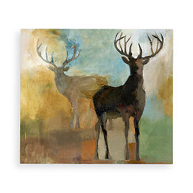 Watercolor Deer Wall Art