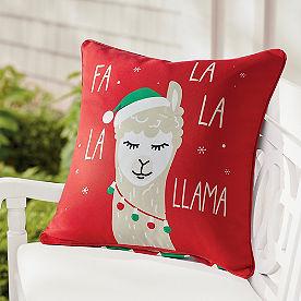 Fa La Llama Pillow 18x18