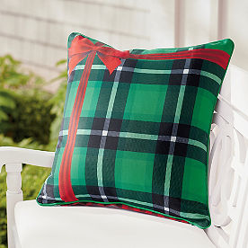 Plaid Gift Pillow 18x18