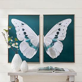 White Butterfly Wall Art