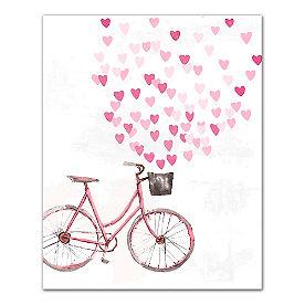 Valentine Bike Canvas