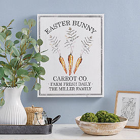 Personalized Carrot Co. Canvas
