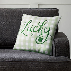 Lucky Check Pillow