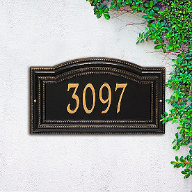 Cambridge Single Line Wall Address Plaque