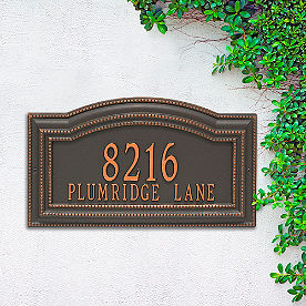 Cambridge Two Line Wall Address Plaque