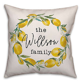 Chatham Lemon Wreath Pillow