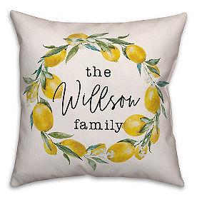 Chatham Lemon Wreath Pillow