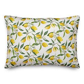 Chatham Lemon Wreath Lumbar Pillow