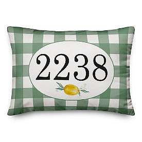 Chatham Green Gingham Lumbar Pillow