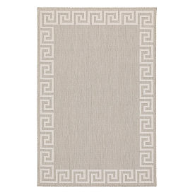 Vernazza Greek Key Border Outdoor Rug