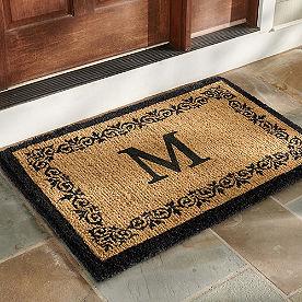 Acanthus Monogram Door Mat
