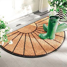 Sunburst Half-Round Coir Door Mat