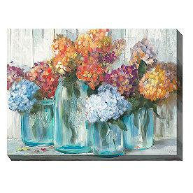 Canvas Wall Art Mason Jar Vases