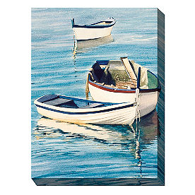 Canvas Wall Art Row Boat Trio