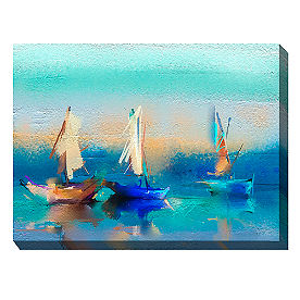 Canvas Wall Art Sailboat Trio