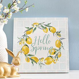 Spring Lemon Canvas