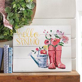 Hello Spring Garden Canvas