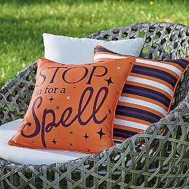 Stop For A Spell Reversible Pillow
