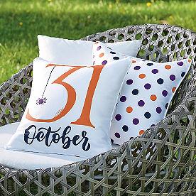 October 31 Reversible Pillow