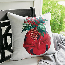 Holiday Bell Reversible Pillow