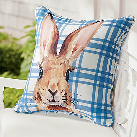 Watercolor Bunny Pillow