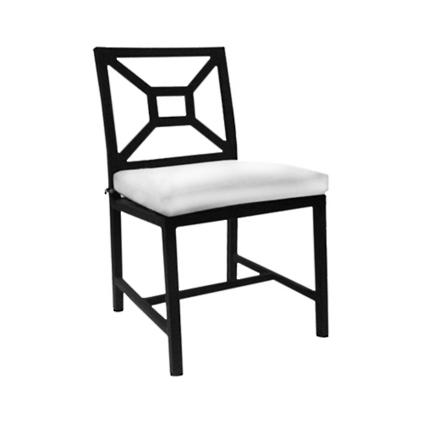 Milano Aluminum Dining Side Chair  sc 1 st  Grandin Road & KNF Milano Outdoor Dining Side Chair | Grandin Road
