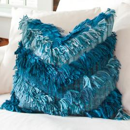 Chevron Shag Throw Pillow
