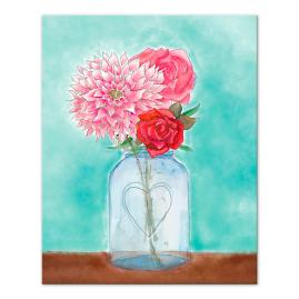 Flower in Vase Canvas