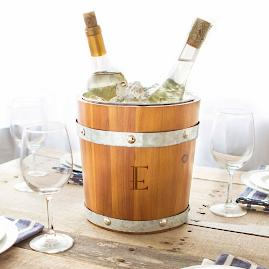 Personalized Rustic Ice Bucket