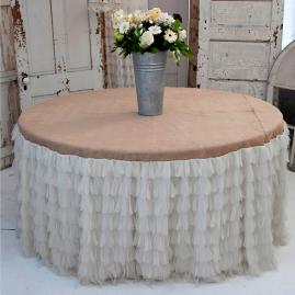 Chichi Petal with Jute Tablecloth