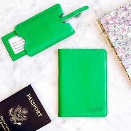 Personalized Passport & Luggage Tag Set