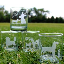 Kennel Club Double Old Fashioned Glasses, Set of