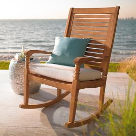 all natural teak rocking chair grandin road