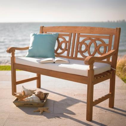 Teak Amalfi Bench Grandin Road - Teak patio bench