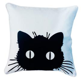 Black Cat Pillow