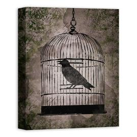 Raven in Cage Wall Art
