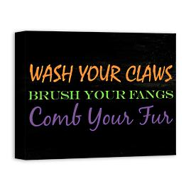 Wash Your Claws Wall Art
