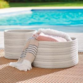 Nellie Stripe Outdoor Basket