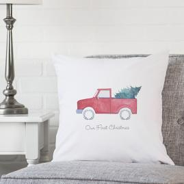 Personalized Christmas Pillow, Truck