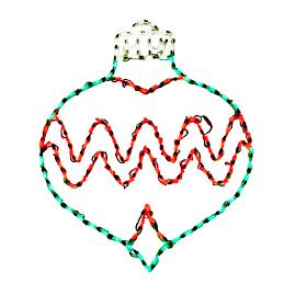 Pre-lit LED Chevron Ornament