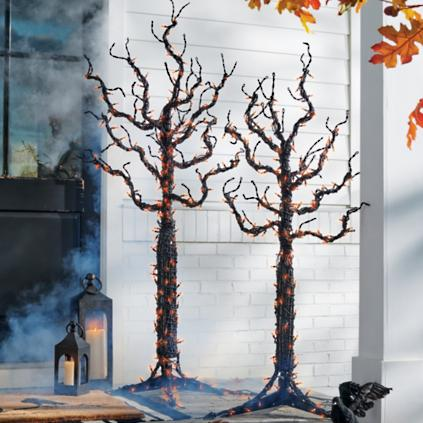 Pre-lit Indoor-Outdoor Spooky Trees