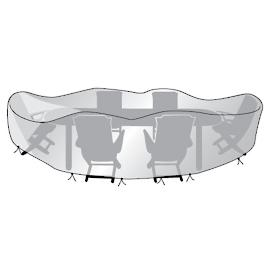 Printed Oval Table and Chairs Cover