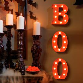 "Battery-operated ""Boo"" Marquee Letters"