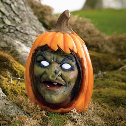 Animated Witch Pumpkin Grandin Road