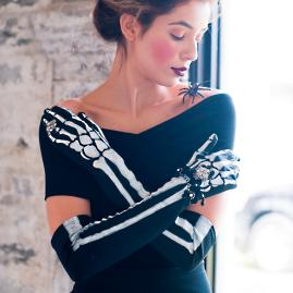 Jeweled Skeleton Gloves